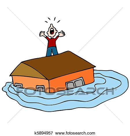 flood clipart clip of flooded house k5894957 search clipart