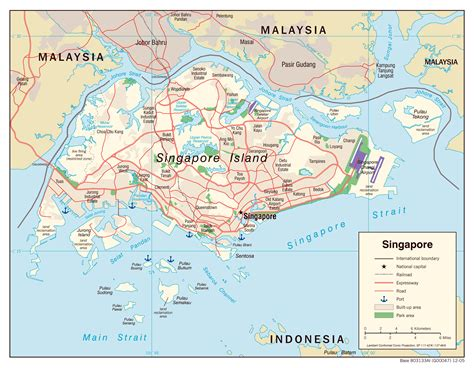 seaport map maps of singapore detailed map of singapore in