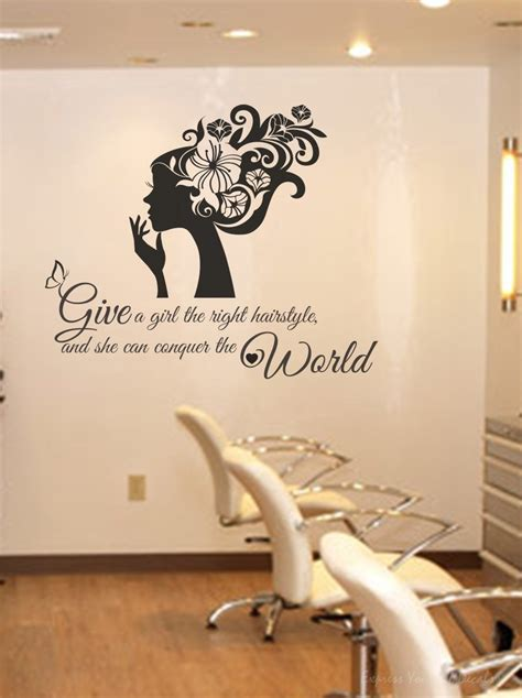 Hair Style Tools Name In Kitchen by Right Hairstyle Wall Decal Sticker Wall Decal Wall