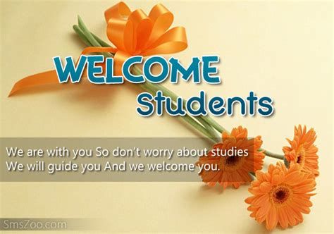 welcome message welcome message for students freshers welcome note
