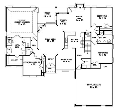 4 bedroom one story house plans 2 story 4 bedroom house floor plans fresh two story 4 bedroom 3 bath country style house