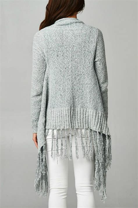 knit fringe lovestitch knit fringe cardigan from california by attire