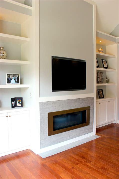 linear fireplace  tv rustyridergirl