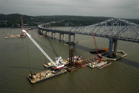 tugboat hits bridge tug boat hits construction barge on hudson river one dead