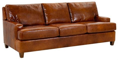 Contemporary Leather Sleeper Sofa Dempsey Modern Leather Sleeper Sofa