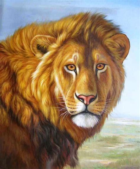 imagenes de leones al oleo compra le 243 n pintura al 243 leo online al por mayor de china