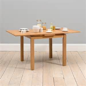 rustic oak 90cm 155cm square extending dining table