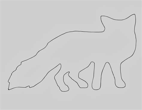 gallery of fox coloring pages template of a fox