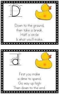 letter formation rhymes letter formation poems best template collection