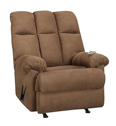padded massage rocker recliner dorel living padded dual massage recliner chocolate