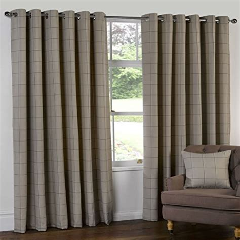90x108 curtains herringbone tweed check heavy lined curtains natural beige