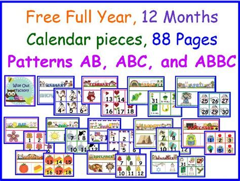 printable montessori calendar 47 best images about calendar activities for kids on