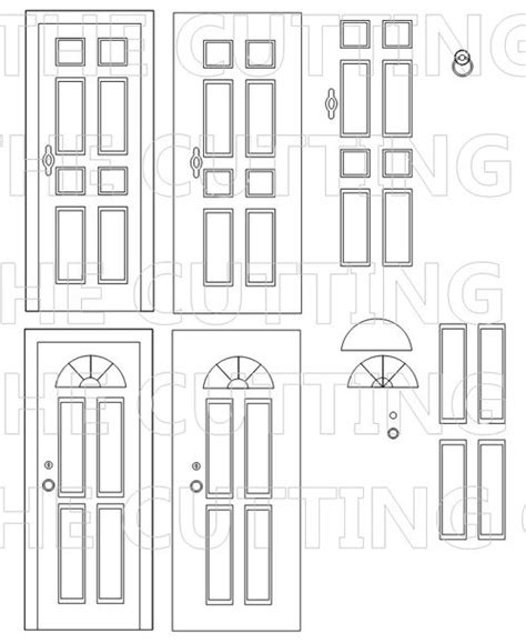 the cutting cafe front door shaped card set template