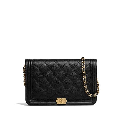 Wallet Bag by Chanel Wallet On Chain Boy 2018 Caviar New Black Leather