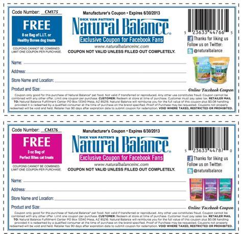 printable natural balance dog food coupons natural balance hot free bag of dog treats free bag