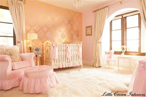 design reveal pink gold ivory baby s nursery