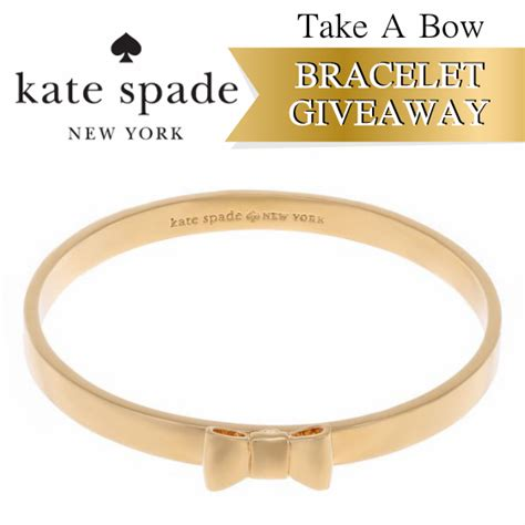 Bow Giveaway - take a bow kate spade bow bracelet giveaway