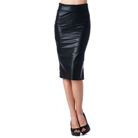 2015 fashion office leather skirt pencil high pencil skirt