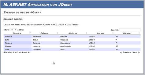 tutorial jquery ajax json tutorial de asp net jquery ajax json linq mostrar tabla