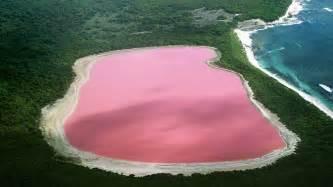 pink lake hillier australia world for travel