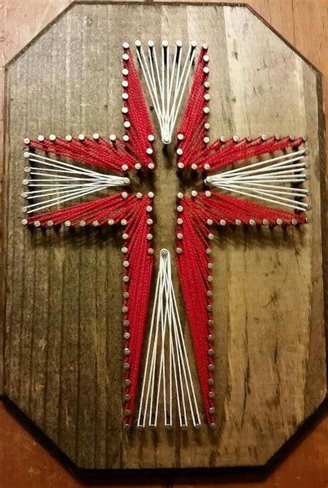 Cross String Art Nailed It Pinterest String Art Art And Crosses Cross String Template