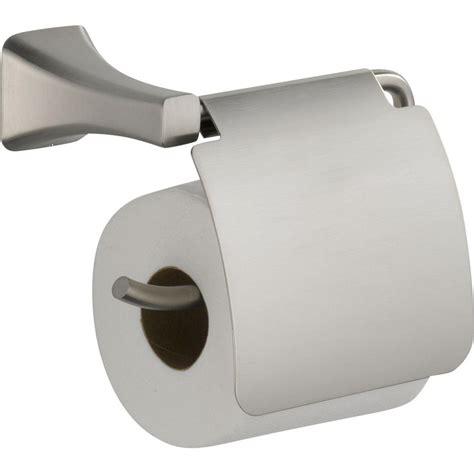 covered toilet paper holder delta tesla single post roll toilet paper holder in