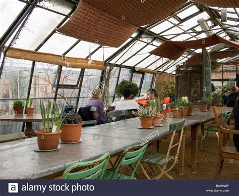 green house cafe table inside the greenhouse cafe not restaurant at petersham stock photo royalty