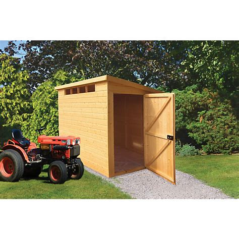 Travis Perkins Sheds by Wickes Security Timber Pent Shed 10 X 10 Ft Wickes Co Uk