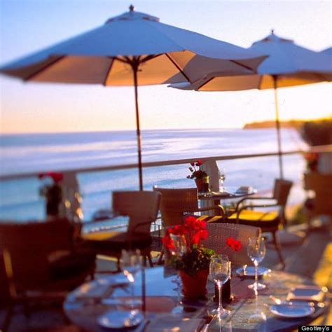 restaurants in malibu with a view top 10 restaurants with a view in los angeles photos