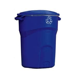 rubbermaid roughneck 32 gal recycling bin 1792641 the