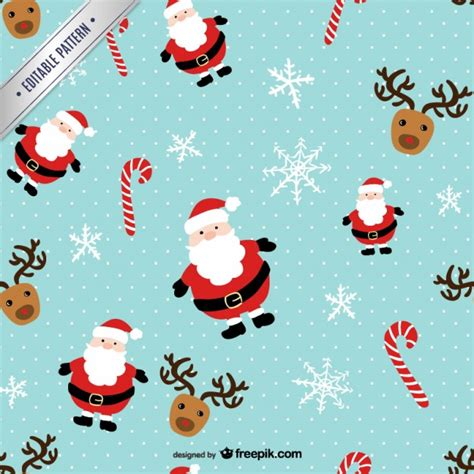 christmas patterns early years christmas pattern with santa claus and reindeers vector