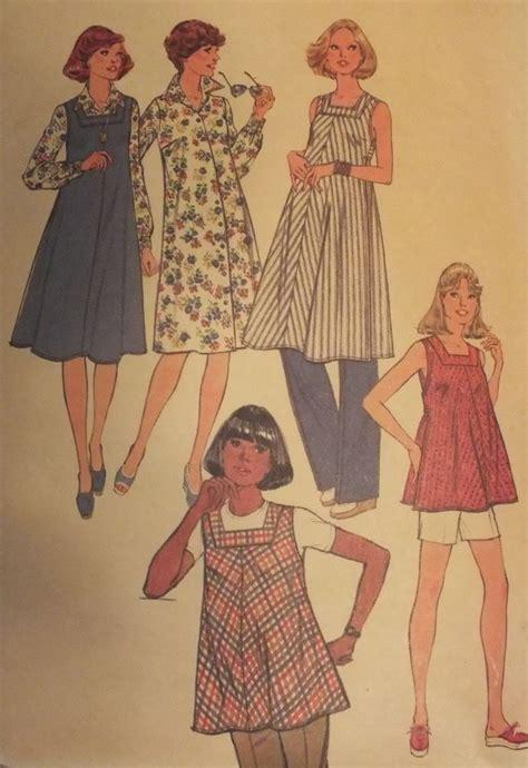 pattern for jumper shorts vtg 77 simplicity 8382 maternity shirt dress jumper top