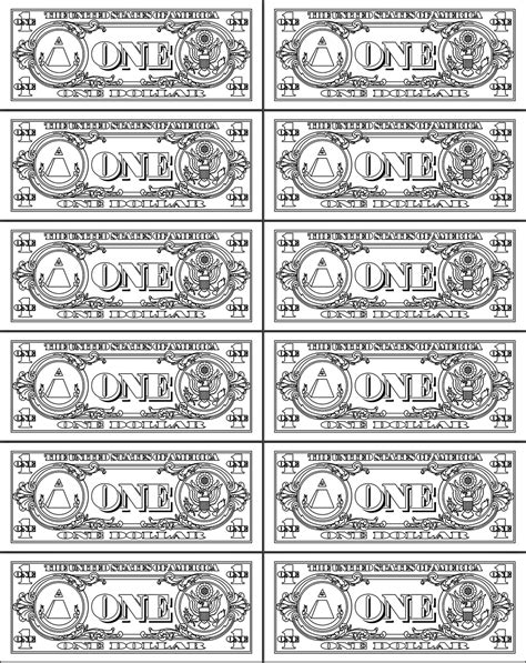 Printable Custom Play Money free printable play money sheets