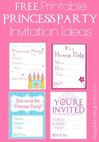 Free Printable Princess Party Invitations Seriously Adorable Princess Birthday Invitation Templates Free