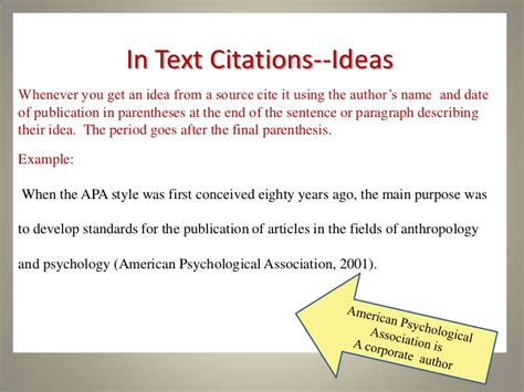 apa format citation in text in text citations apa owl