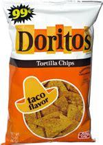 doritos tortilla chips taco flavor retro bag
