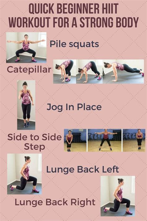 quick and simple bodyweight workout routine for beginners 8 best images about exercise and diet on pinterest