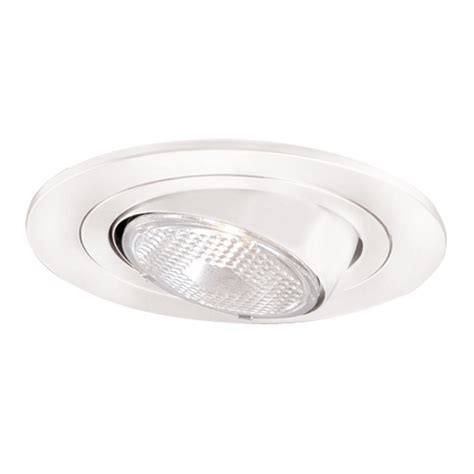 Halo Recessed Lighting Fixtures Halo Halo Satin White 4 In Eyeball Recessed Lighting Trim Lowe S Canada