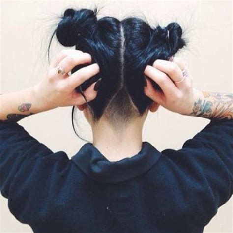 hair on nape of neck looks messy when hair is in a pony tail 25 แบบทรงผม hidden undercut ไถท ายทอยเท ๆ สำหร บผ หญ ง