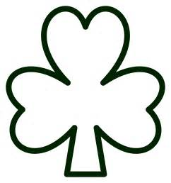 shamrock coloring page 187 pattys day shamrock black white line flower