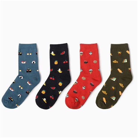 cute patterned socks korean female cute fruit food dessert patterned socks