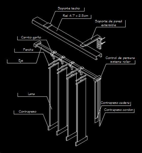 persiana dwg detalle de persiana vertical en autocad cad 217 15 kb