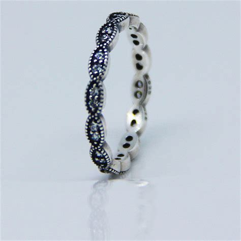 authentic 925 sterling silver ring leaves ring with cubic
