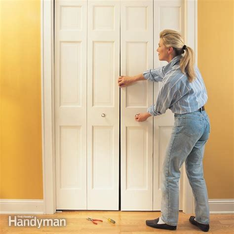 bifold closet door repair how to fix a bifold door the family handyman