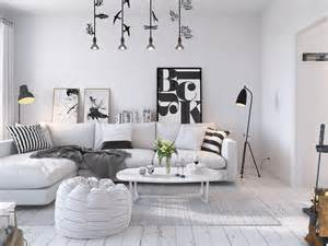 Interior Decor Bright Scandinavian Decor In 3 Small One Bedroom Apartments