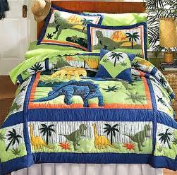 Size Quilts For Boys by Dinosaurs Bed Quilt Bedding Set Size