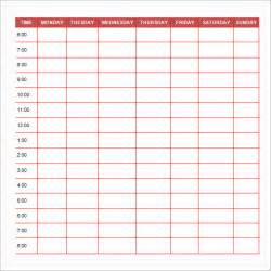 editable daily schedule template sle printable daily schedule template 17 free