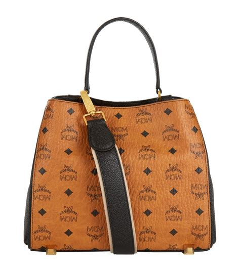 mcm small corina visetos shoulder bag in brown lyst