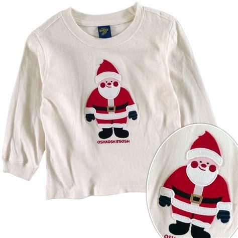 Oshkosh Longtee Boy oshkosh sleeve t shirt childrens t shirt santa claus fabric stickers in t shirts from