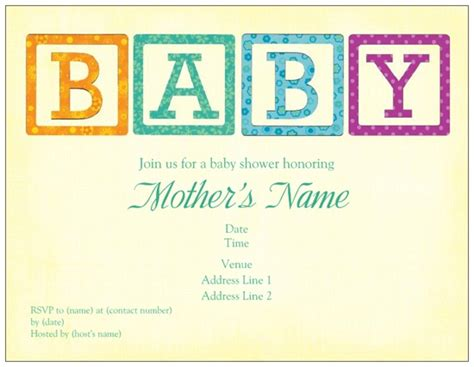 Vista Print Baby Shower Invites by Baby Shower Invites Baby Blocks Vistaprint Custom